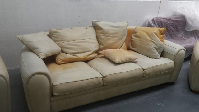 3 seat sofa of suite badly sun faded