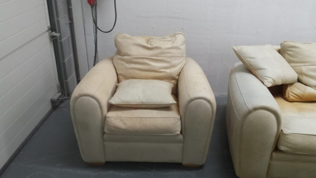 2nd Armchair of suite badly sun faded