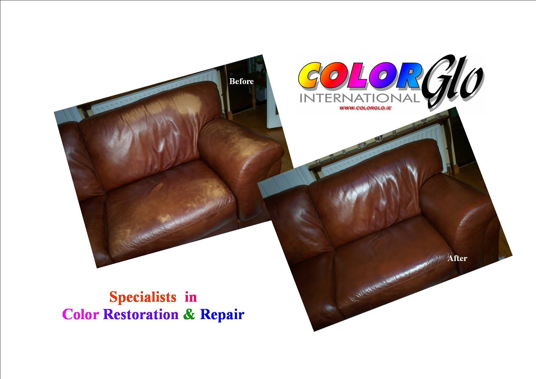 Colour Restoration to brown sofa losing colour
