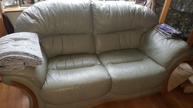 Cream Leather Sofa Colour Changed Before
