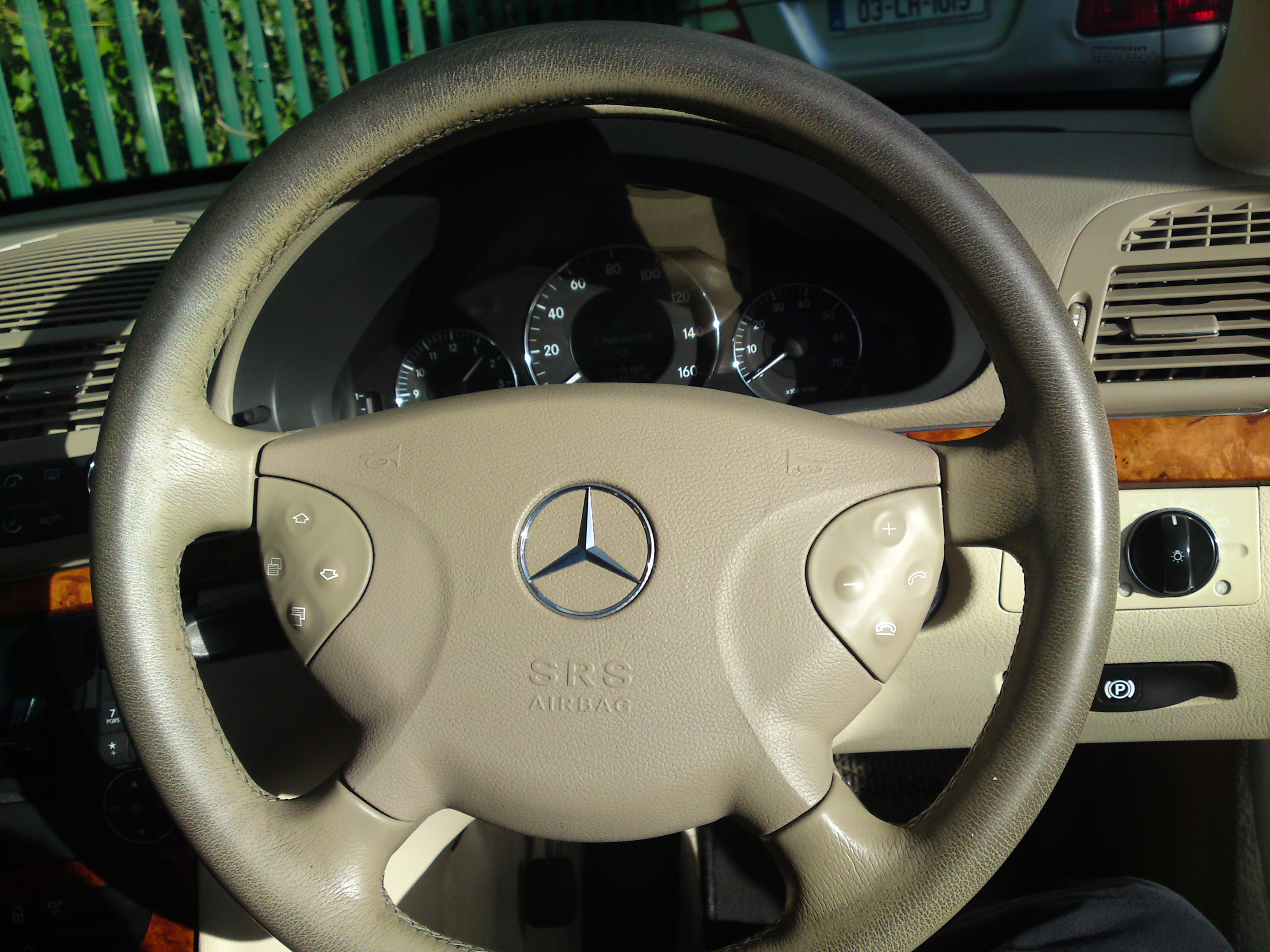 Mercedes E Class Steering Wheel with colour loss