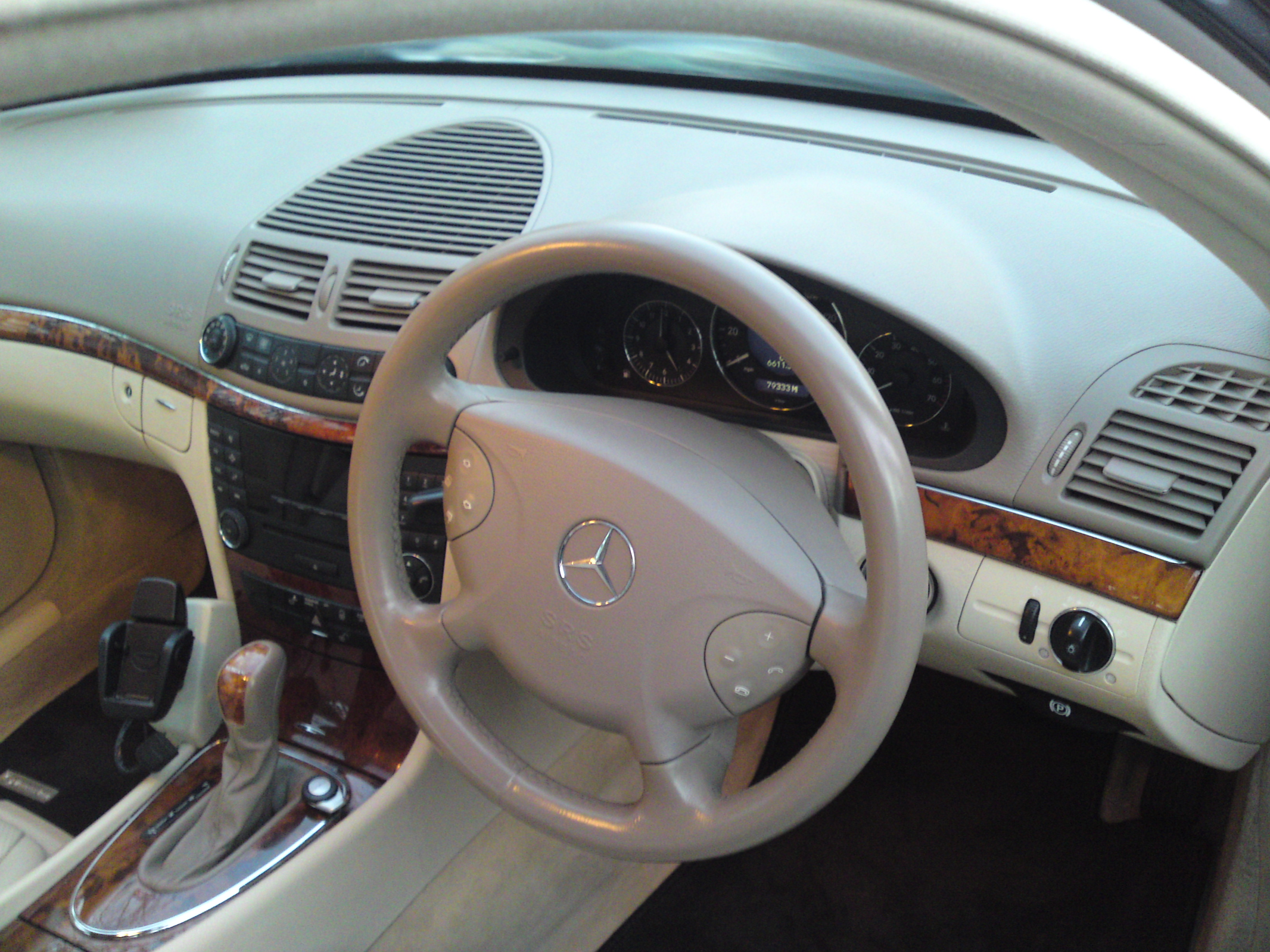 Mercedes E Class Steering Wheel with colour restored