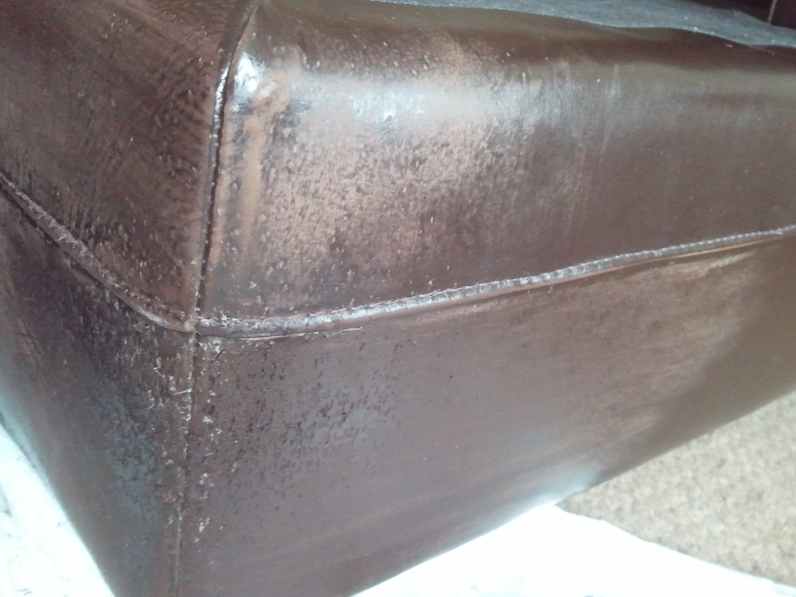 Cat Scratches on leather