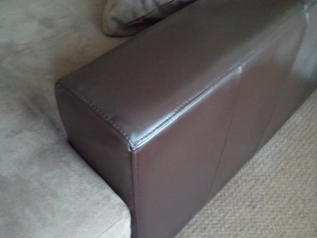 Cat Scratches on leather sofa repaired and restored